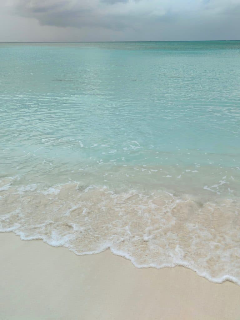 The beach in Nassau, Bahamas