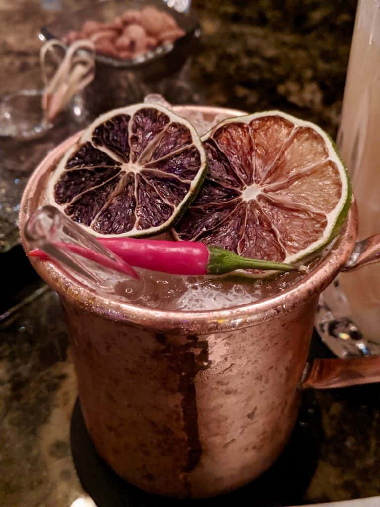 A cocktail at Le Bar, Four Seasons.
