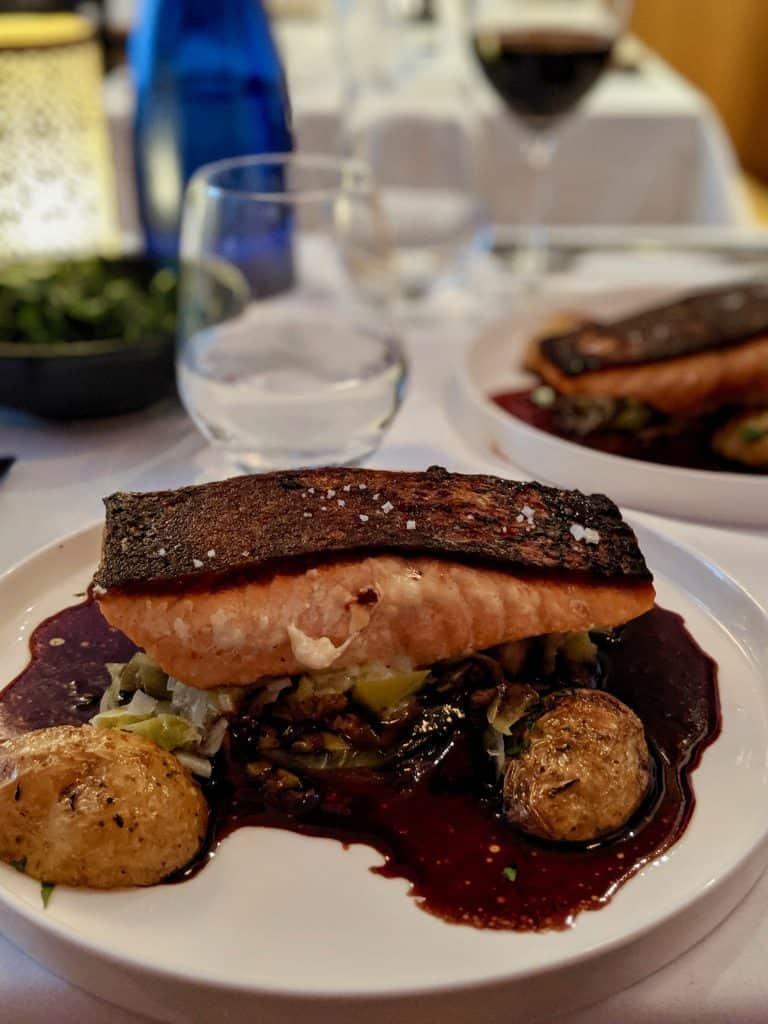 A salmon dish from Invictus, Paris.