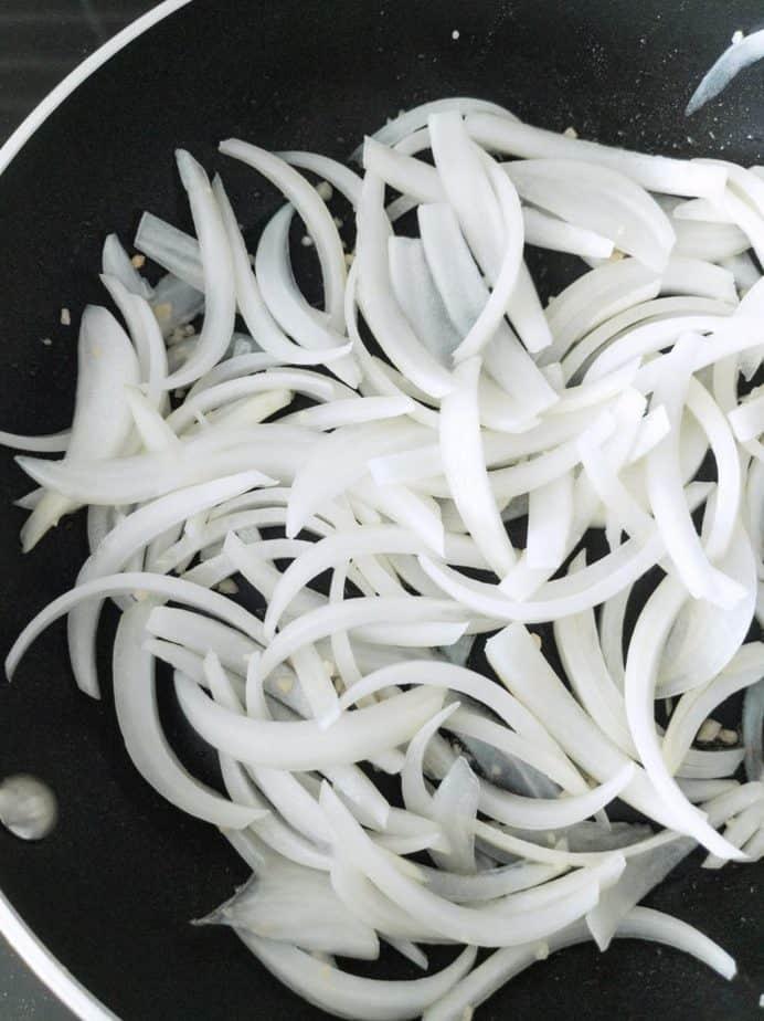 Garlic and onion sautéing.