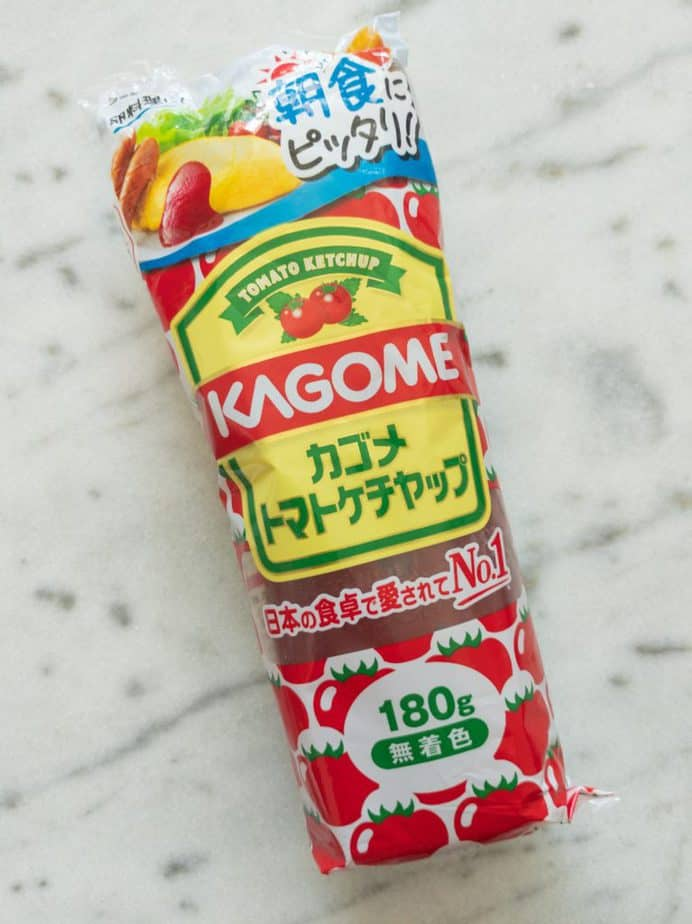Kagome Japanese Ketchup. An important ingredient in omurice.