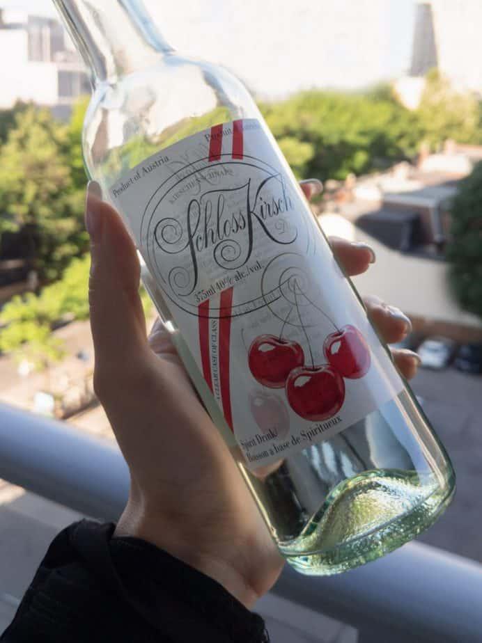 A bottle of kirsch