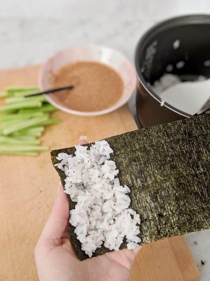 Rice on nori